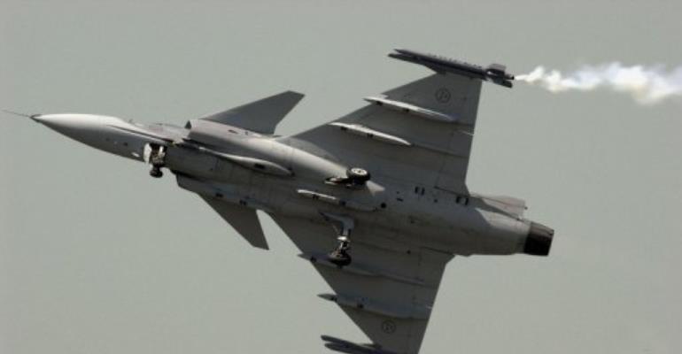 The case concerns a 1999 deal for 26 JAS Gripen fighter jets.  By Frederick Florin (AFP/File)