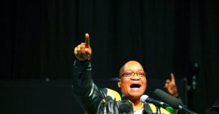 South African President Jacob Zuma.  By Alon Skuy (AFP)