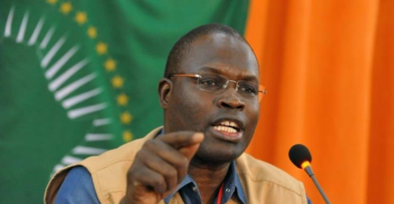 Sall was elected to Senegal's national assembly from prison in July but his parliamentary immunity was lifted to pave the way for his trial..  By Seyllou (AFP/File)