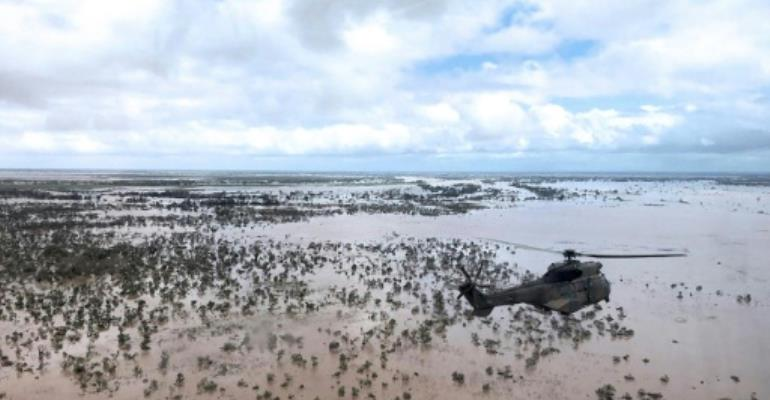 Satellite images reportedly show the creation of an inland sea in Mozambique that is 125 kilometres long and 25 km wide (78 x 16 miles).  By MARYKE VERMAAK (AFP)