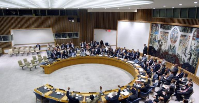 The UN Security Council.  By Devra Berkowitz (AFP/UNITED NATIONS/File)