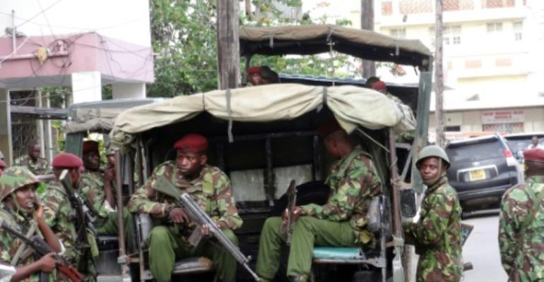 Somali-led jihadists have stepped up roadside bombings in Kenya's border areas, killing dozens, mostly police officers.  By STR (AFP/File)
