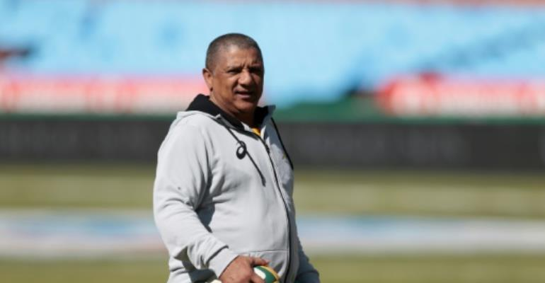 South Africa national rugby team head coach Allister Coetzee said he's pleased with the effort of his players.  By GIANLUIGI GUERCIA (AFP/File)