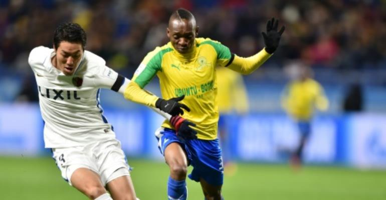 South Africa-based Zimbabwean Khama Billiat (R) is one of three finalists for the Africa-based Footballer of the Year award.  By Kazuhiro Nogi (AFP/File)