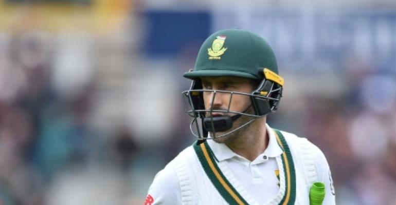 South Africa's captain Faf du Plessis, pictured in July 2017, was named as the country's one-day international skipper.  By Glyn KIRK (AFP/File)