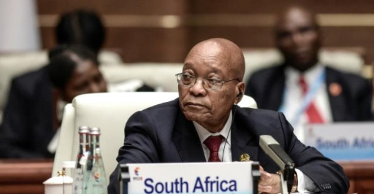 South Africa's President Jacob Zuma has survived numerous bruising court battles over the years.  By FRED DUFOUR (POOL/AFP/File)