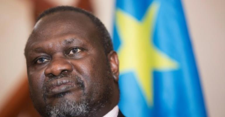 South Sudan's labour minister Gabriel Duop Lam joined a unity government last year as a member of the opposition headed by rebel leader Riek Machar (pictured).  By Zacharias ABUBEKER (AFP/File)