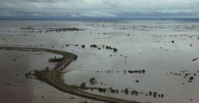 Swamped: Cyclone Idai ravaged central Mozambique before crashing into neighbouring Zimbabwe.  By Rick EMENAKET (Mission Aviation Fellowship/AFP)