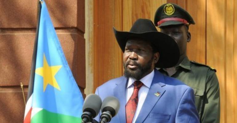 Southern President Salva Kiir.  By Isaac Billy (AFP/UN/File)