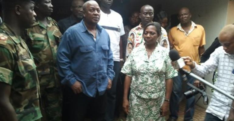 The Vice President John Mahama was part of the peace brokers in the Hohoe clashes