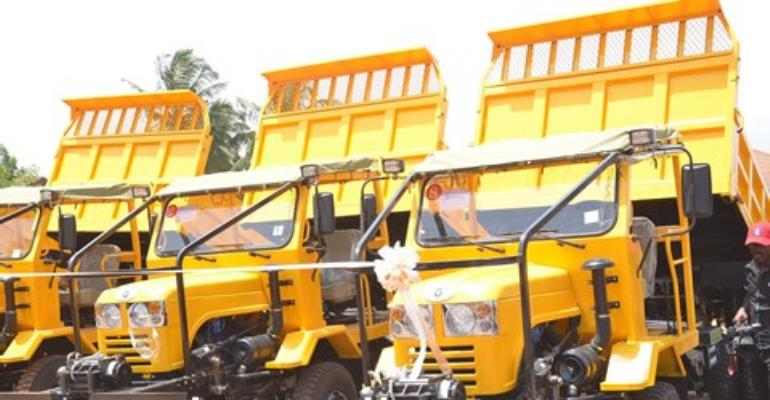 The newly assembled trucks launched