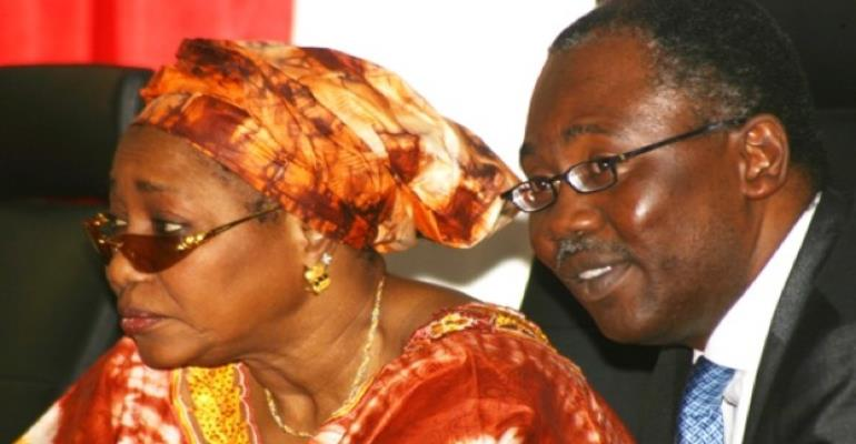PHOTO: L-R: EFCC CHAIRMAN, FARIDA WAZIRI AND ATTORNEY GENERAL, MR MOHAMMED BELLO ADOKE, SAN.