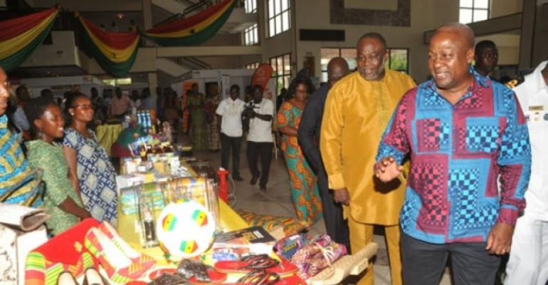 Flashback: Dr. Ekwow Spio-Garbrah and Mahama at an event