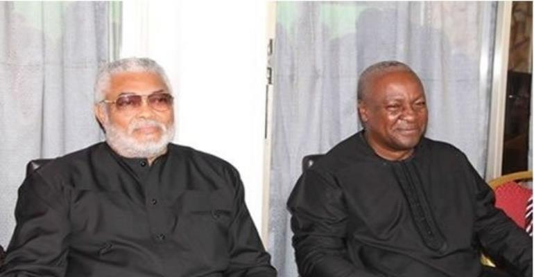 Photos: Rawlings' mourn with Mahama