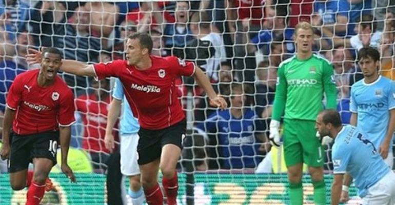 Cardiff stun Manchester City