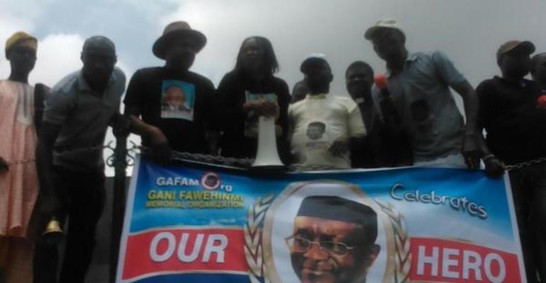 Saidi Balogun Joins Gani Fawehinmi Memorial March In Lagos