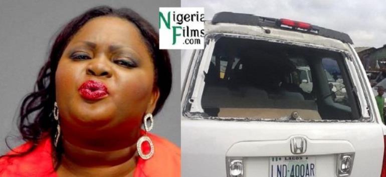 Fans Damage Eniola Badmus' 2-Month Old 'Honda Bullet' Car In Lagos, Gets Body Guard