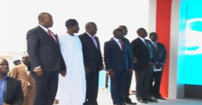 President John Mahama(2nd from R) and RLg boss Roland Agambire next to the president on the left and other dignitaries