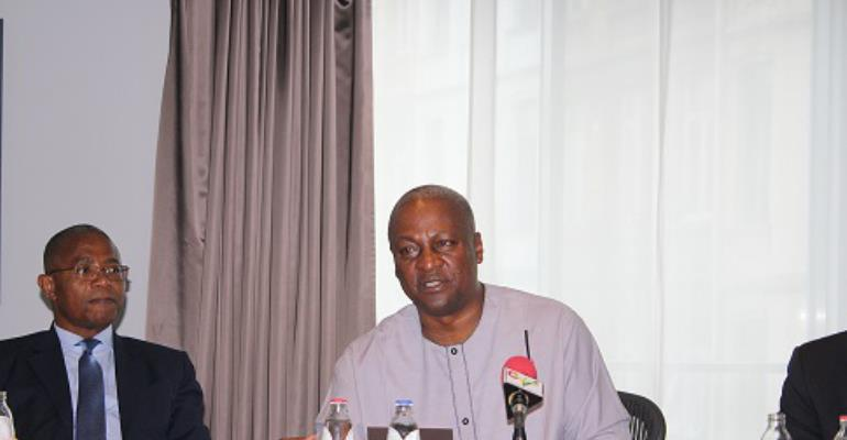 President Mahama meets Ghanaian Community Leaders in Belgium