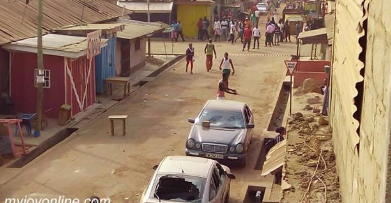 Old Tafo streets remain empty after curfew hours