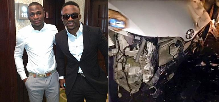 Photos: Iyanya's Manager Ubi Franklin Involved In A Serious Car Accident