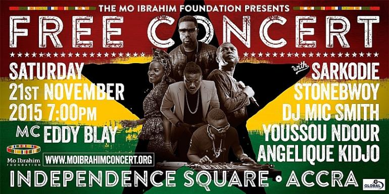 Angelique Kidjo, Stonebwoy, Yousou N'Dour, Sarkodie & Others For Mo Ibrahim Concert 2015
