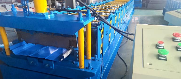 JOINT HIDDEN WALL PANEL ROLL FORMING MACHINE PRODUCTION FINISHED