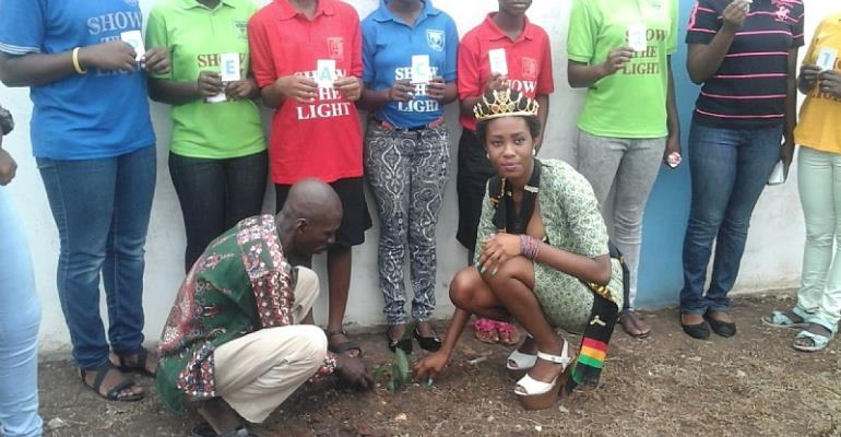 Tema NGOs Plant Peace Tree With Miss Tourism Ghana Princess To Mark UN Peace Day