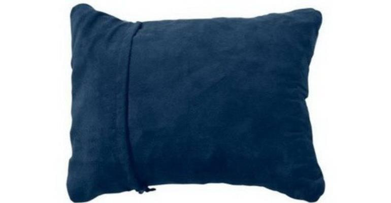 The Thermarest Compressible Pillow compresses down to the size of a one-litre bottle then expands to an almost full-sized pillow.