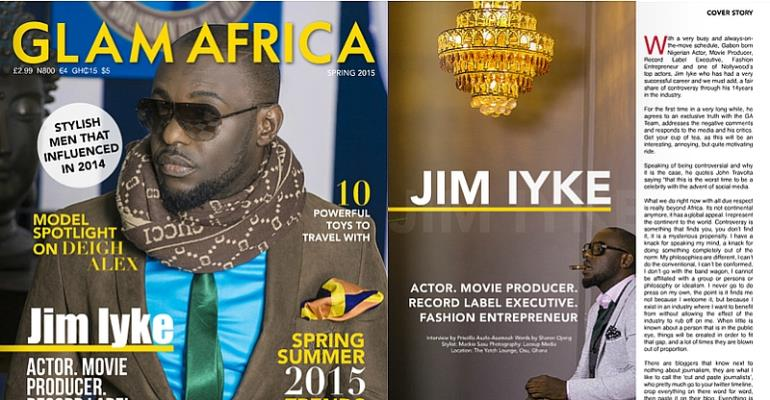 Jim Iyke Talks About Nadia Buari, Kenturah Hamilton, The T B Joshua Deliverance And His Opinion Of Bloggers In Glam Africa Magazine