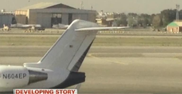 Video: Ibrahim Mahama's private jet spotted in Iran