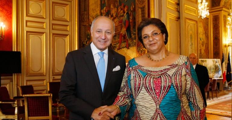 Hannah Tetteh Meets Her French  Counterpart Laurent Fabius