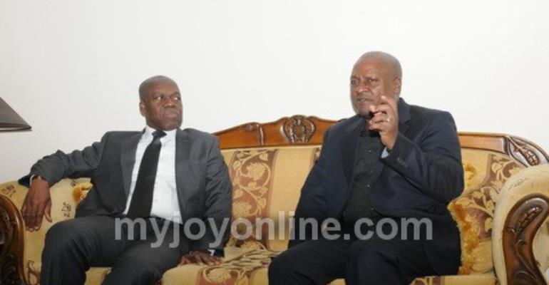 The Vice President Amissah-Arthur with President John Mahama