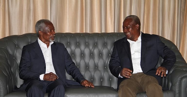 PRESIDENT MAHAMA & Kofi Annan