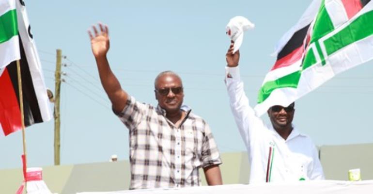 President Mahama (left)