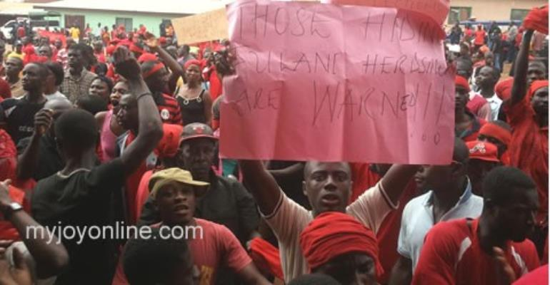 The Agogo Youth in a demonstration over the fulani occupation of their land