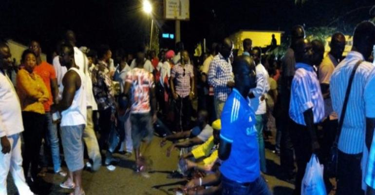 Photos: NPP supporters vow to keep vigil at police station as Wontumi remains locked up
