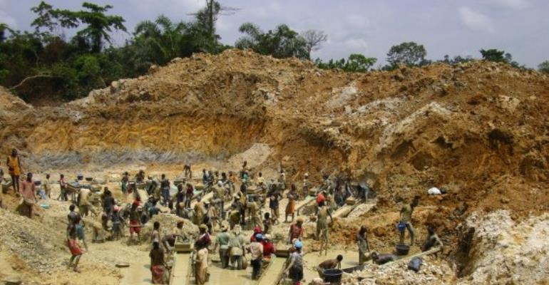 Chinese engage in illegal mining and destroying the environment