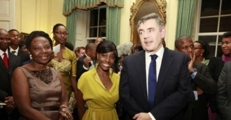 Samata, mother and Gordon Brown