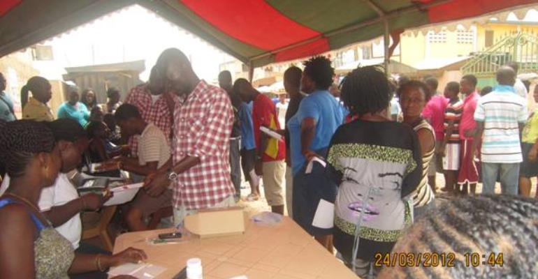 POOR TURNOUT AT EXHIBITION CENTRES in Tamale