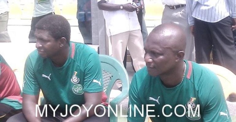 Maxwell Konadu(L)and Akwesi Appiah(R) Maxwell Konadu(L)and James Akwesi Appiah(R)
