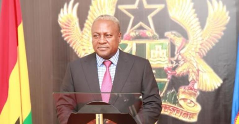 John Mahama was declared president-elect by EC chairman, Dr. Afari-Gyan