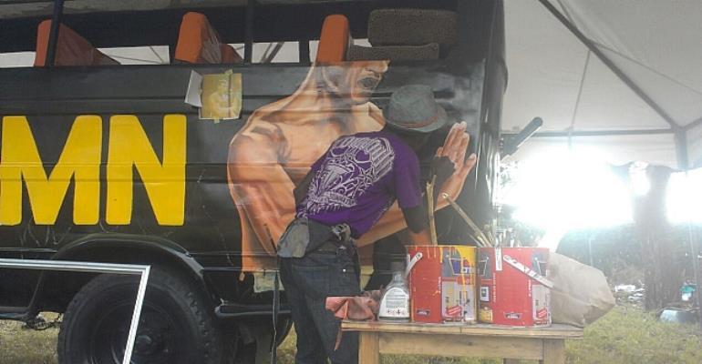 Ghanaian Prince Hilton Paints Van Damme In Kenya