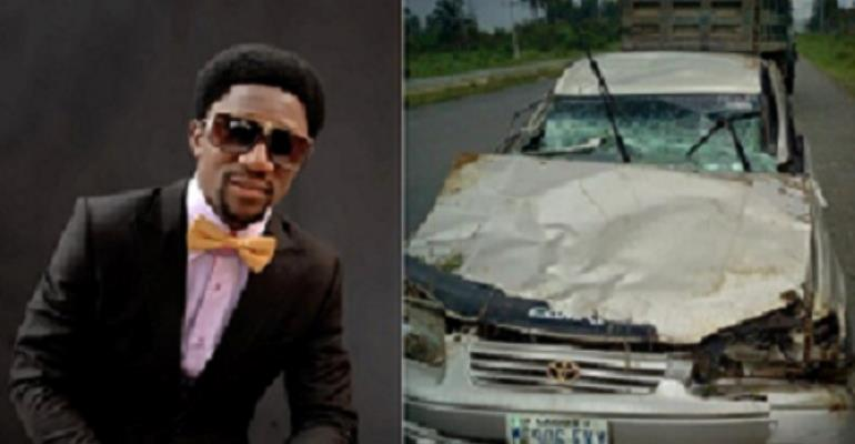 FAST RISING COMEDIAN OGUS BABA  SURVIVES AUTO CRASH