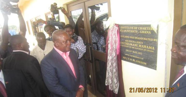 Vice President Mahama inaugurates Institute of Chartered Accountants building complex