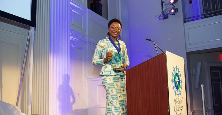 Winnifred Selby Receives 2015 World Of Children Youth Award At New York City Gala