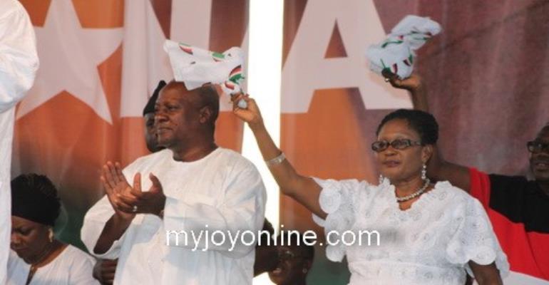 President Mahama and wife, Lordina Mahama at the victory party