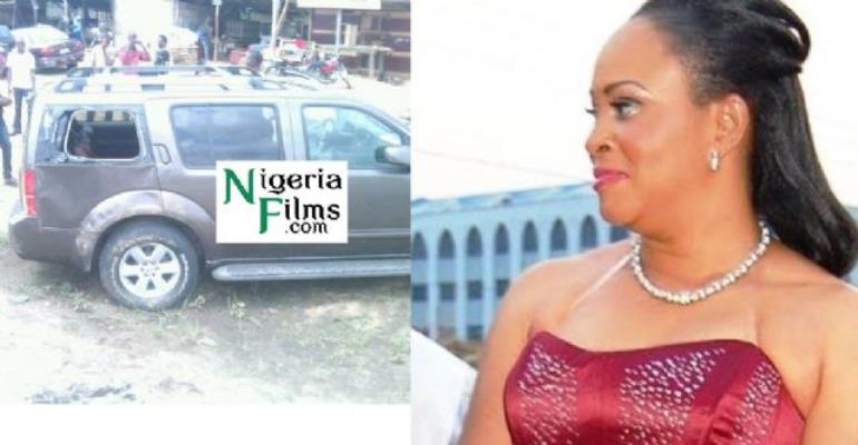 News Flash: Bukky Wright In Auto Accident, Rushed To Hospital [PICTURES]