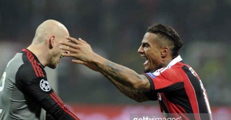 Kevin-Prince Boateng salutes retired AC Milan legend Christian Abbiati
