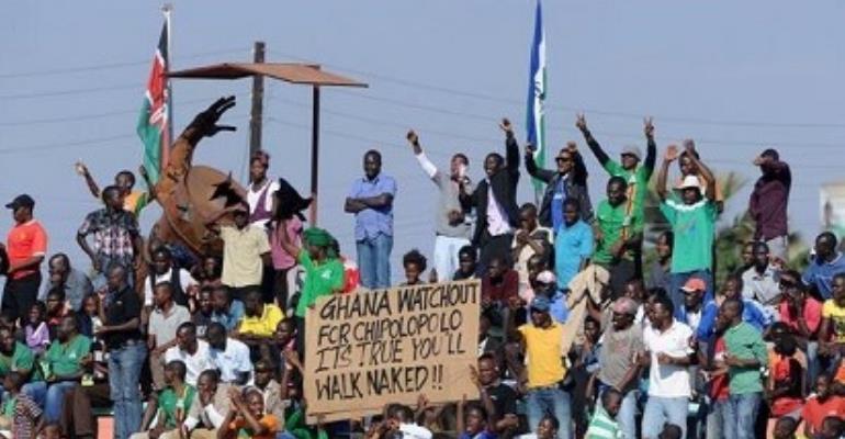 Zambian fans mock Ghana ahead of their clash in September